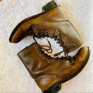 {DURANGO} Brown Vintage Style Prairie Boots